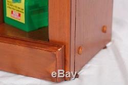 10 Gun Rifle Storage Cabinet Wood Locking Display Case Shotgun Safe 3 Shelves