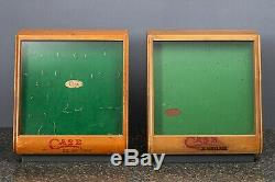 2 Antique/Vintage Case xx Cutlery Glass Counter Store Display Case Knife With Key