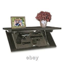24 Gun Storage Shelf/Cabinet Mounted Convert Concealment Safe Magnetic Key Wood