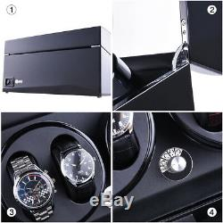 3 Motors Automatic Rotation 6+7 Watch Winder Storage Case Display Box