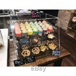 3 Tray Bakery Counter Display Case Rear Door Donut Pastry Cookie Hotel Store NEW