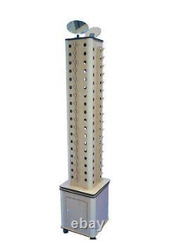 4-Sided Wood Floor Display Storage Holds 72-Pair Sunglass Readingglass Retail
