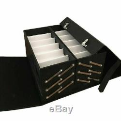 48 Slot Sunglass Eyeglass Case Display Storage Organizer Eyewear Box PU Leather