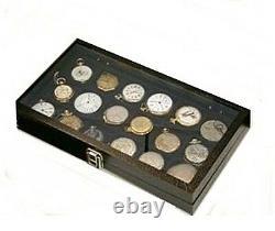5 Pocket Watch Storage Display Glass Cases Watch Collection Box Storage Case