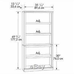 5-Shelf Bookcase Wooden Storage Bookshelf Office Home Display Cabinet Furniture