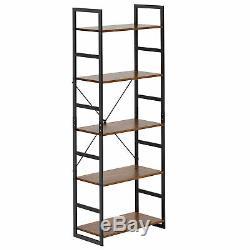 5-Tier Bookshelf Bookcase Storage Organizer Display Shelf Home Office Furniture