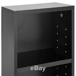 54 Inch Tall Narrow 8-Tier Media Storage Tower Bookcase Shelf Display Case Black