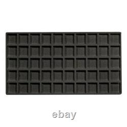 6 Glass Top Black 3 Mixed Liners Jewelry Display Storage Cases & Carrying Case