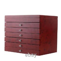 6-Layer 78 Pens Wood Display Case Organizer Storage Fountain Pen Collector Box
