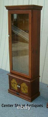 61957 Pulaski Pine Gun Rifle Storage Cabinet Display Case