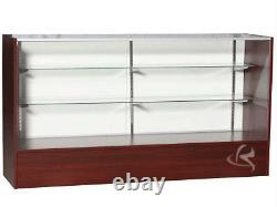 70 Cherry Full Vision Showcase Display Store Fixture Knocked Down #SC-SC6C