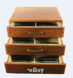 #707 Custom Solid Wood Fountain Pen Storage Display Chest Hand Crafted Pen Box