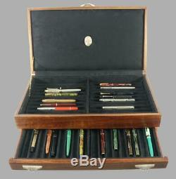 #750 Hand Crafted Fountain Pen Storage Custom Built Solid Mahogany Display Chest
