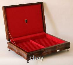 #811 Hand Crafted Fountain Pen Storage Custom Built Solid Mahogany Display Chest