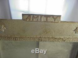 AMITY Antique CAST IRON COUNTRY STORE Counter Top WALLET DISPLAY CASE