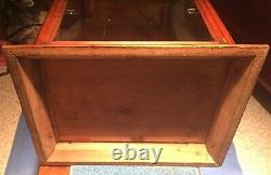 ANTIQUE COUNTRY STORE COUNTER TOP DISPLAY CASE With2 ORIGINAL WOODEN SHELVES