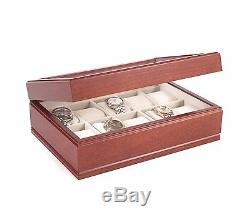 American Chest The Commander 10 Watch Box Storage Chest Display Case