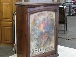 Antique 1800's Walnut Diamond Dyes Store Display Case