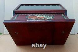 Antique 1919 Boye Crochet Hook Needle Company Wood Store Display Case with52 Hooks