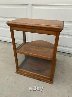 Antique 19th C. Roll Top Cheese Display Case General Store Bakery Coffee Cabinet
