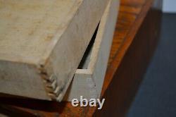 Antique Belding Silk Wooden Tiger Oak Spool Chest Cabinet 2 Drawer Storage Chest