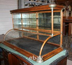 Antique Country Store Oak Tower Country Store Counter Top Showcase Display