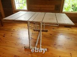 Antique Country Store Shelf Display That Tilts To A Table Combination Table Co