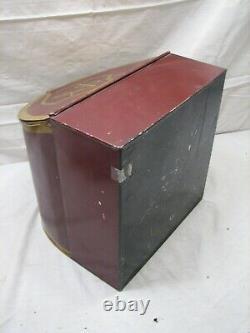 Antique Country Store Tin Litho Ceylon Tea Bin Can Counter Ken-Mor SAK