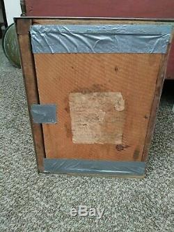 Antique Curved Glass Showcase/General Store Display Case