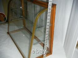 Antique Curved Glass Store Display Case