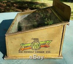 Antique De Nobili Cigar Co. Glass LID Store Counter Cigar Display Case