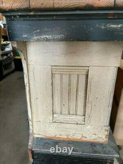 Antique Display Counter Cabinet, Store Counter Showcase, Mercantile Cabinet, Bar