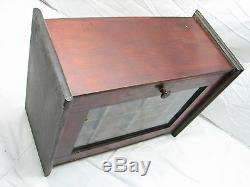Antique Dyola Wooden Fabric Dye Store Display Cabinet Shadow Box Wood Case