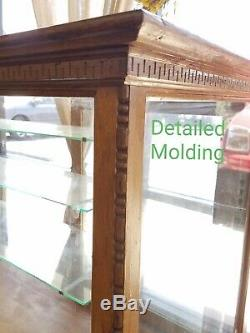 Antique General STORE DISPLAY SHOW CASE OAK- 8 Ft Long LOCAL PICKUP ONLY