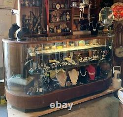 Antique General Store Beautiful 7' Vintage Display Showcase, nice condition