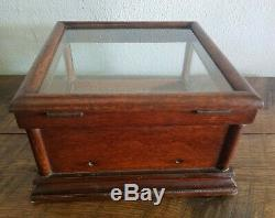 Antique General Store Counter Top Display Show Case Jewelry Advertisng Candy