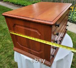 Antique General Store Spool Cabinet 6 Drawer Cherry Finish Solid Wood