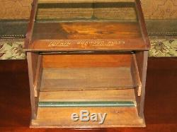 Antique Lufkin Ruler Co Slanted Lift Top Countertop Store Display Cabinet Case