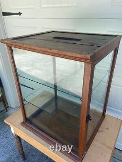 Antique Oak Bakery 4 Sided Glass Showcase Country Store Vintage