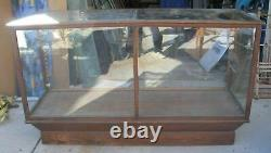 Antique Oak Glass General Store Display Showcase NY Made A. N Russell & Sons Co