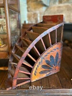 Antique Pair Of General Store Sack Holders From The 1800's Original Stenciling