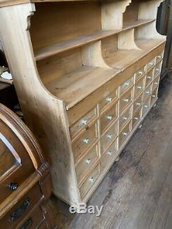 Antique Pine General Store display fixture Apothecary cabinet Bins Book Case