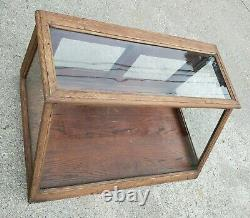 Antique Showcase Country General Drug Store Counter Top Apothecary Display Case
