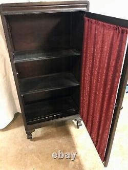 Antique Storage Cabinet Book Case Vintage Display LP Records Player Piano Rolls