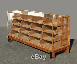 Antique Store Display Case Shop Counter Showcase Cabinet w Wood and Glass
