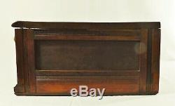 Antique Victorian RED VELVET 2 Drawer Sewing Spool Store Display Case Cabinet