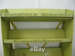Antique/Vintage General Store Sunshine Biscuit Advertising Display Case-Shelves