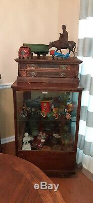 Antique WILIMANTIC 2 Two Drawer Wooden Spool Cabinet STORE DISPLAY CASE