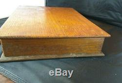 Antique Watsons Needles Display Wooden Case Box Country Store Victorian RARE
