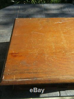 Antique Wood Country Store Display Case J & P Coats Spool Thread Sewing Cabinet